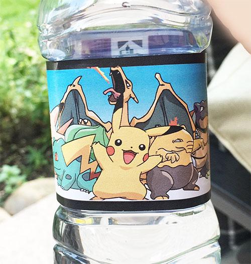 Pokémon Etiketten für Trinkflaschen