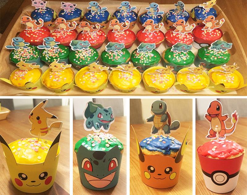 Muffins für den Pokémon Geburtstag