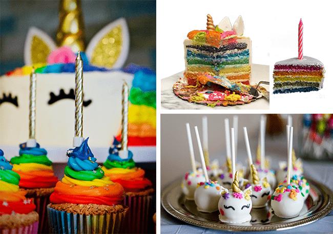Einhorn Kuchen & Muffins