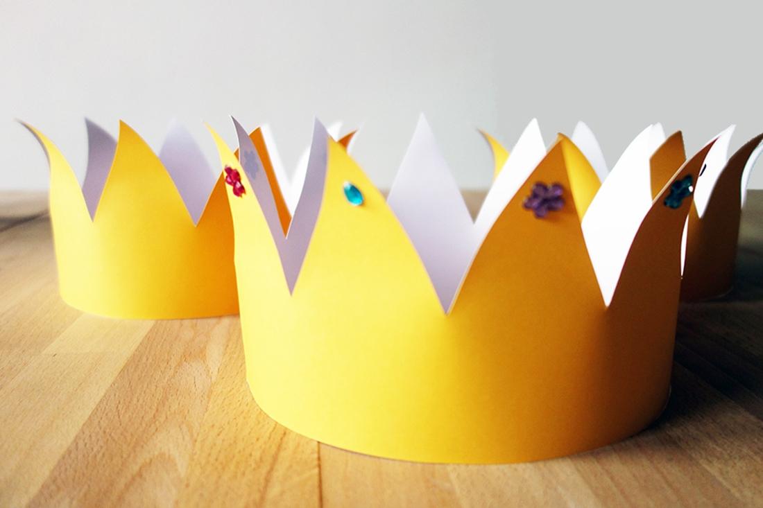 Krone zum selbst Basteln