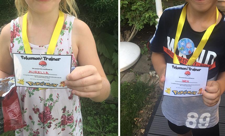 Trainer Karten für die Pokémon Party