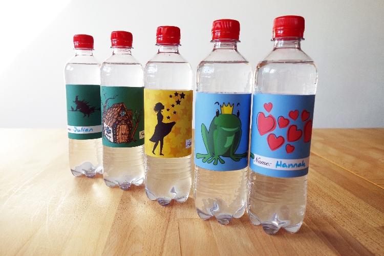 Flaschenetiketten Märchenguburtstag