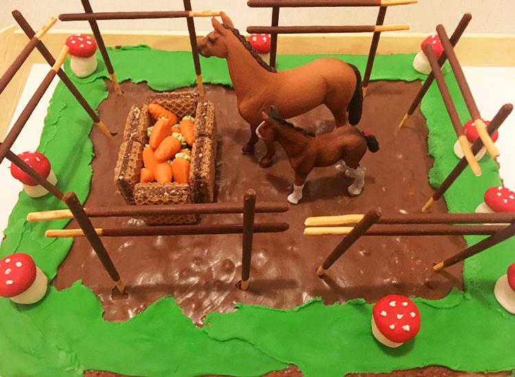 Pferdekuchen Kindergeburtstag