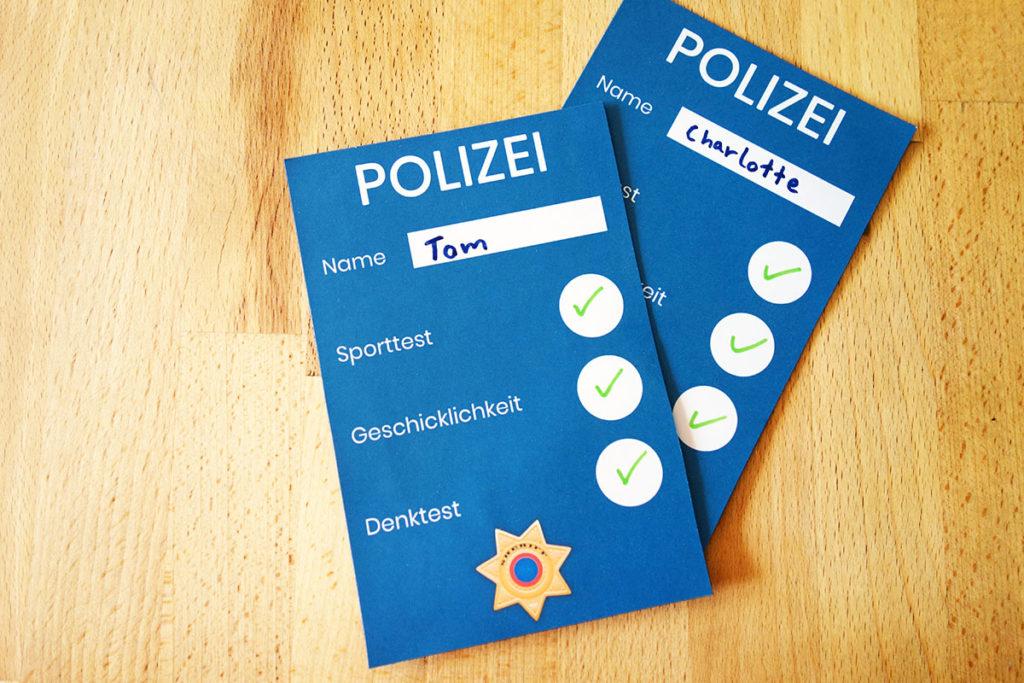 Polizei Geburtstag Spiel