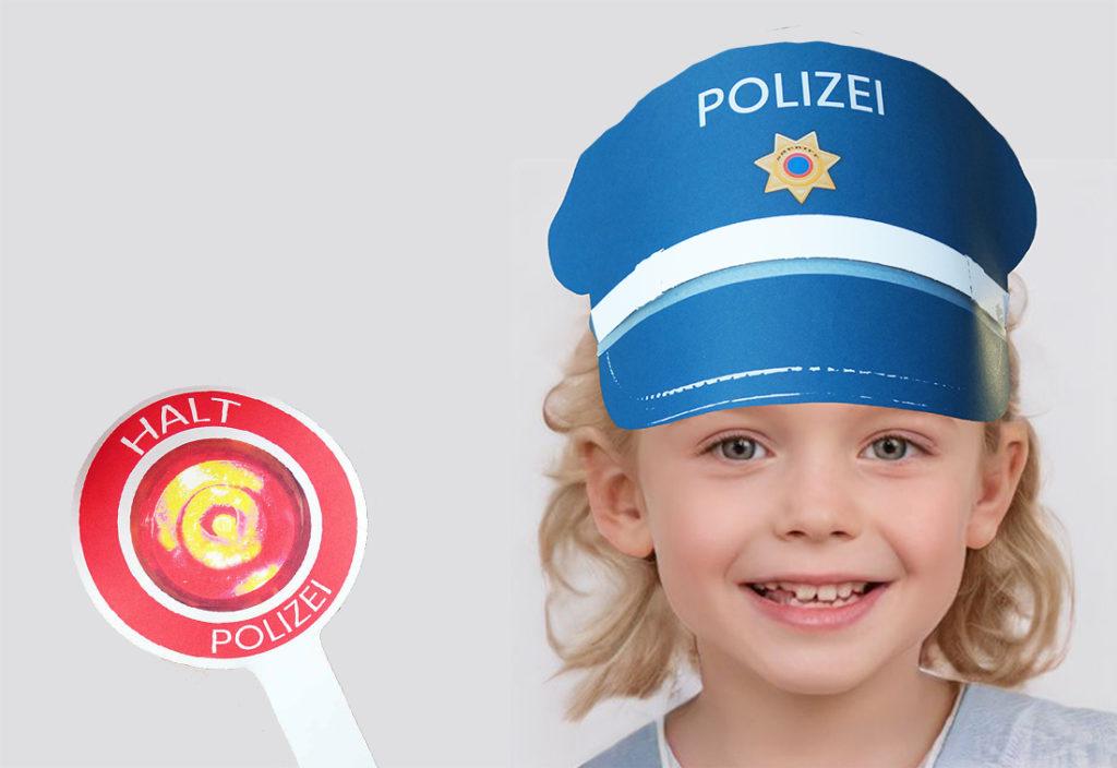 Polizeimütze Bastelvorlage