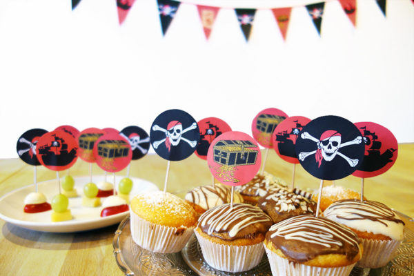 Dekopicker & Etiketten Piratengeburtstag