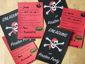 Einladungskarten Piratengeburtstag
