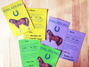 Einladungskarten Pferdegeburtstag