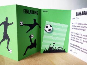 Einladungskarten Fußball Geburtstag