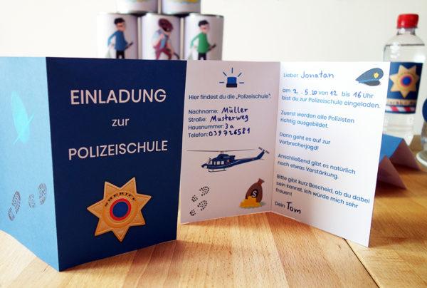 Einladungskarten Polizei Geburtstag