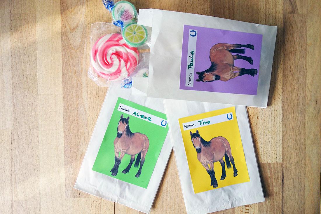 Umweltfreundliche DIY Pferde-Mitgebseltüten