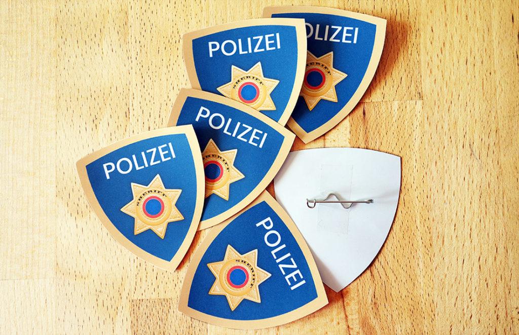 DIY Polizei Dienstmarke