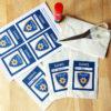 Polizei Mitgebseltüten Etiketten