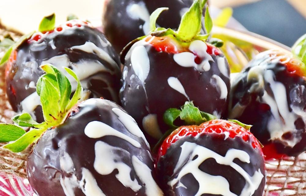 Schokofrüchte Erdbeeren
