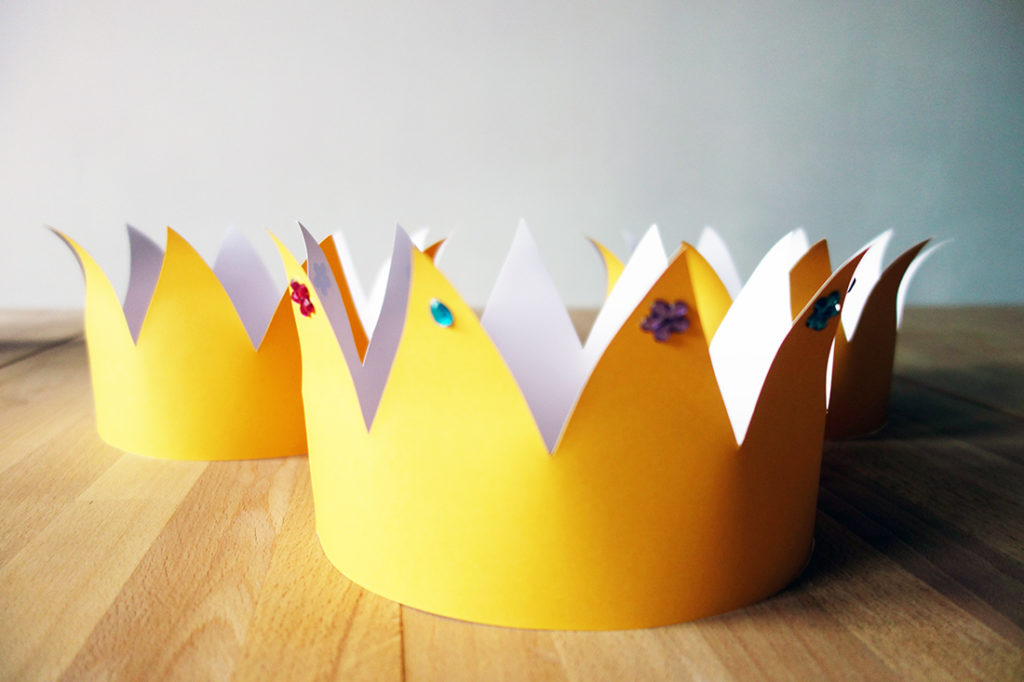 Krone Bastelvorlage Märchengeburtstag